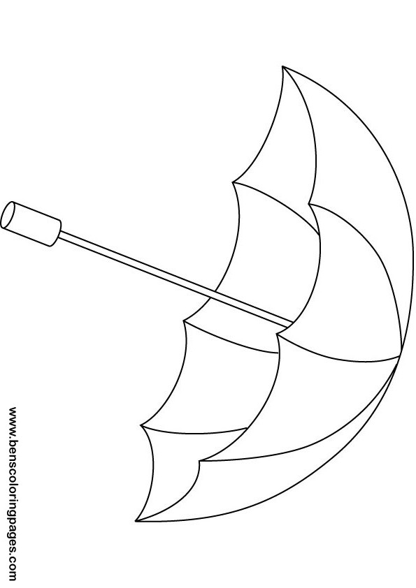 Rainbow Umbrella Coloring Pages