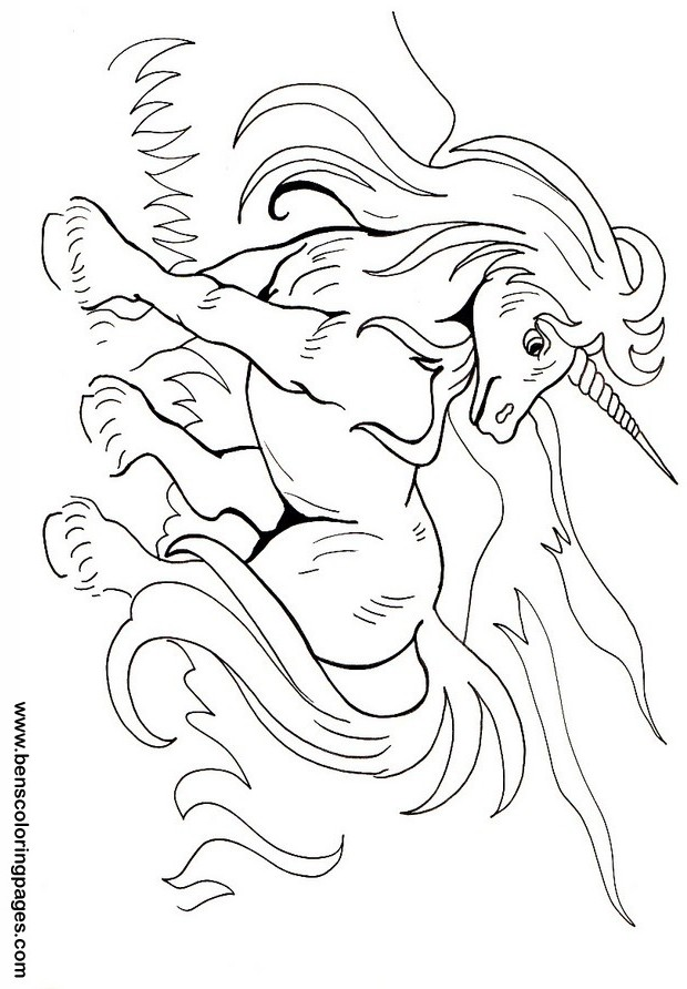 The Last Unicorn Coloring Pages Coloring Pages