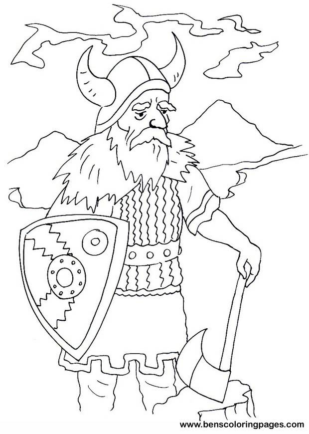 Viking coloring page for free