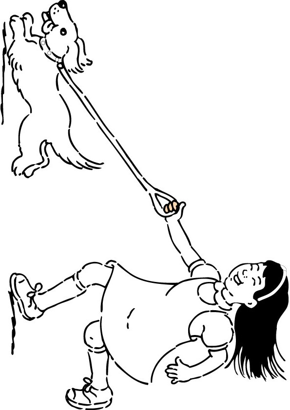 kids pet dog coloring page - Dog Coloring Page