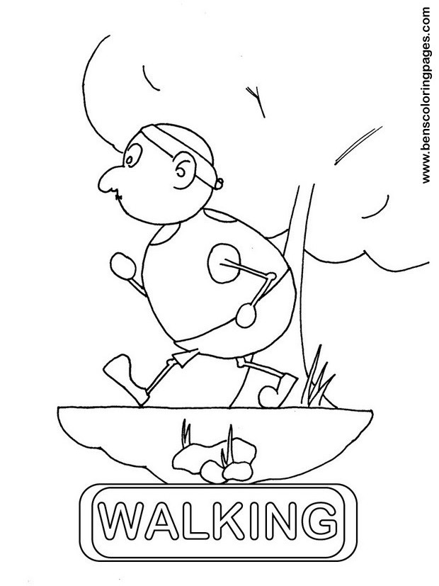 walking coloring page