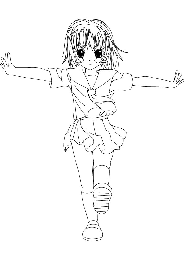 kids girl coloring page