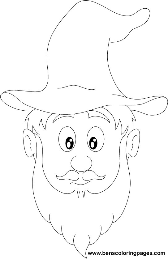 Wizard face coloring pages
