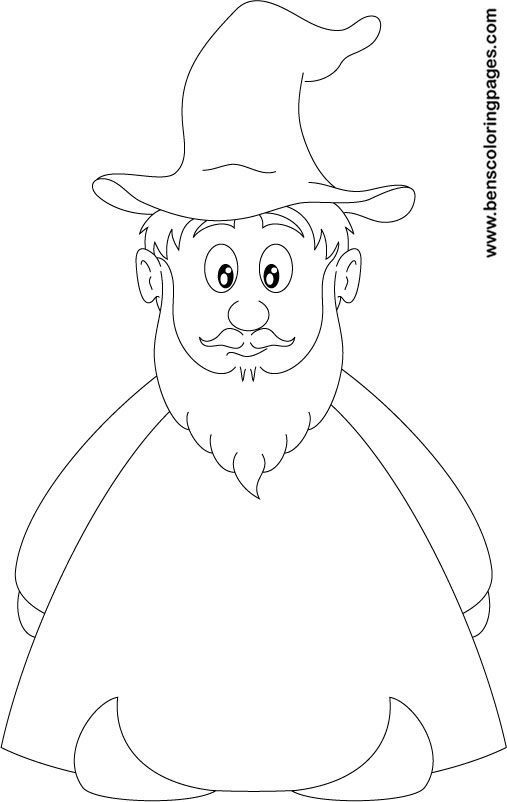 Wizard boy coloring pages