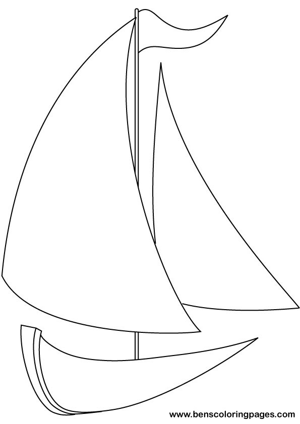 Yacht coloring pages