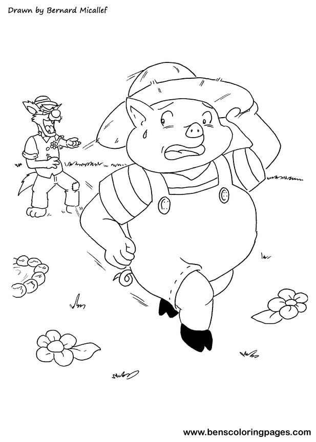 straw house coloring pages - photo#33