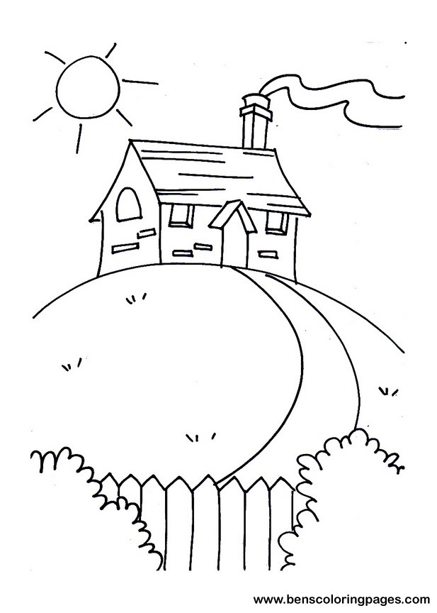 little house coloring pages - photo#6