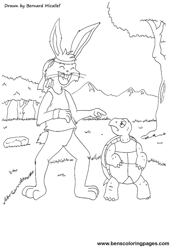 The Tortoise Coloring Pages Tortoise And The Hare Coloring Page