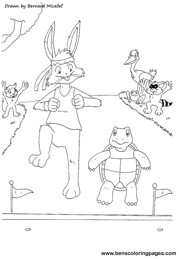 The Tortoise And The Hare Fairy Tales Tortoise And The Hare Coloring Page