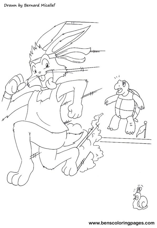 The Tortoise And The Hare Coloring Page Tortoise And The Hare Coloring Page