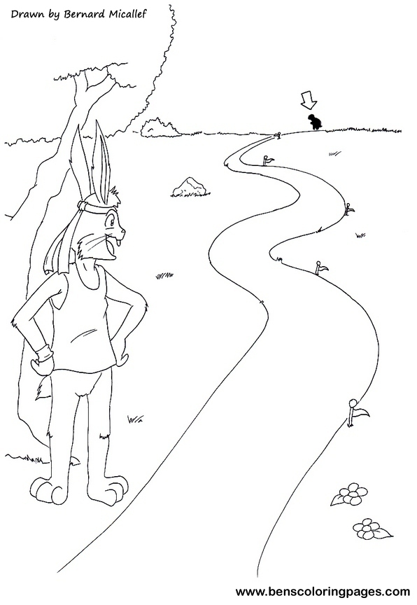 Free Tortoise And Hare Coloring Pages Tortoise And The Hare Coloring Page