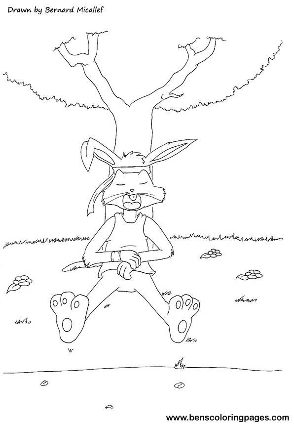 rabbit and tortoise coloring book