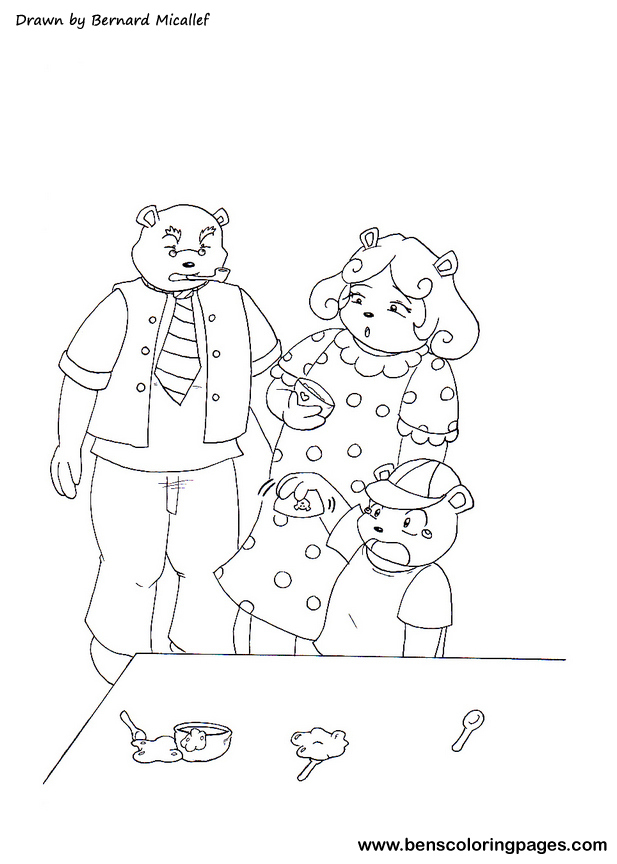 Goldilocks Face Coloring Pages Three Bears Coloring Pages