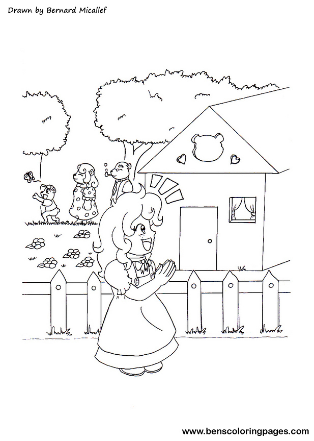free goldilocks coloring pages - photo#24