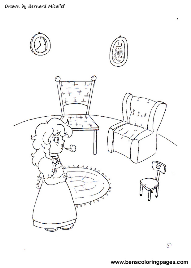 goldilocks and the three bears coloring page - goldilocks pictures