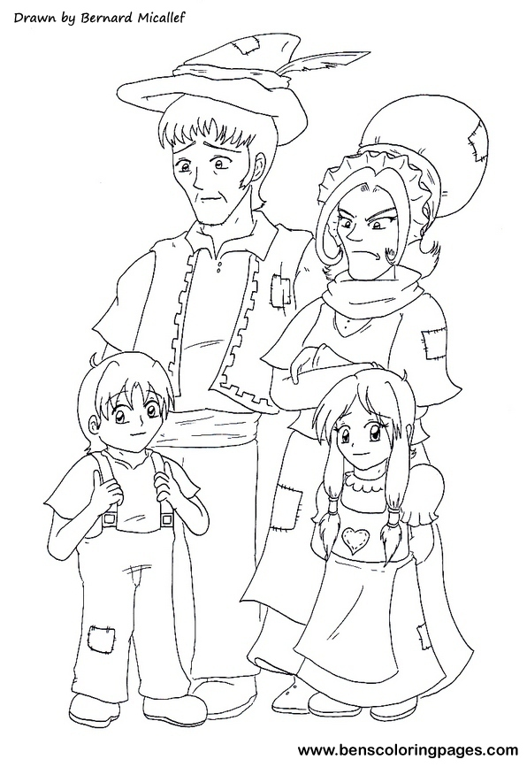 hansel si gretel coloring pages - photo#13