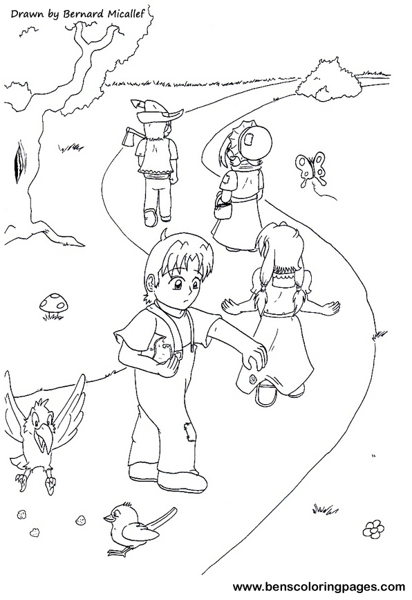 Free Coloring Pages Of Gretel Hansel And Gretel Coloring Page