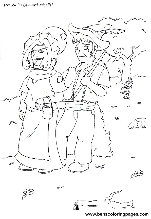 Free Hansel And Gretel Coloring Pages Hansel And Gretel Coloring Page