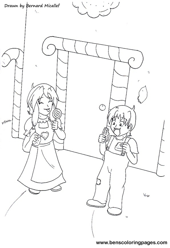 Free H 228 Nsel Coloring Pages Hansel And Gretel Coloring Page