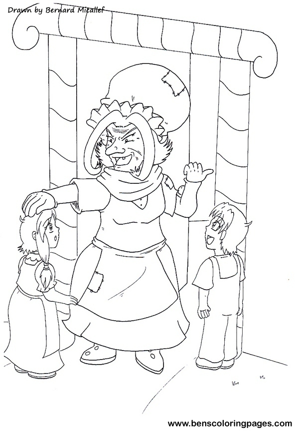 Hansel And Gretel Coloring Pages Hansel And Gretel Coloring Page