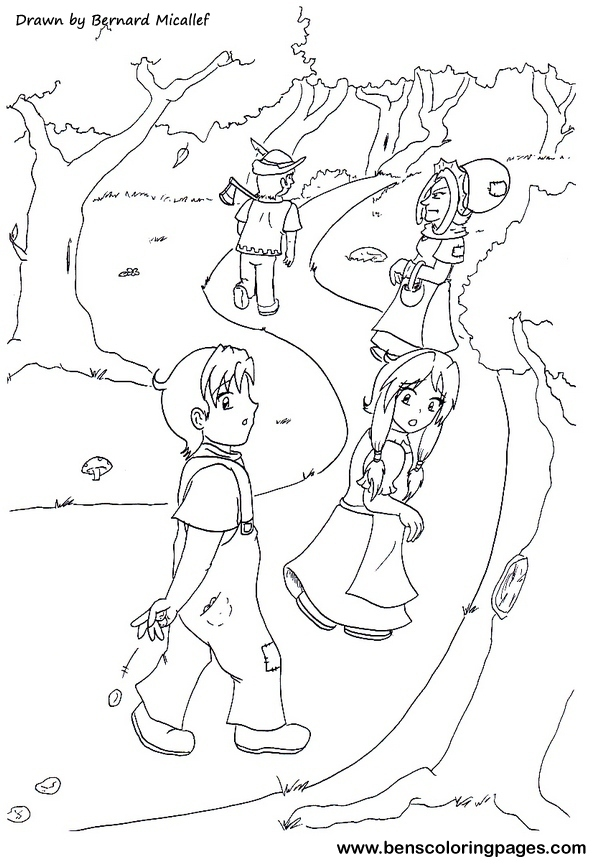 Hansel And Gretel Story Coloring Pages