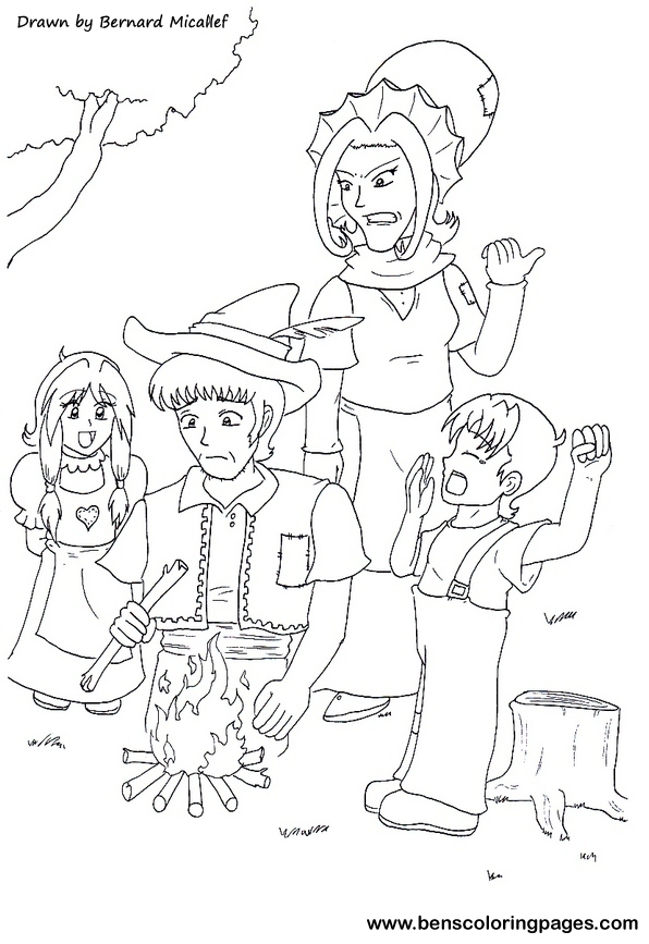 hansel and gretel coloring pages - photo#30