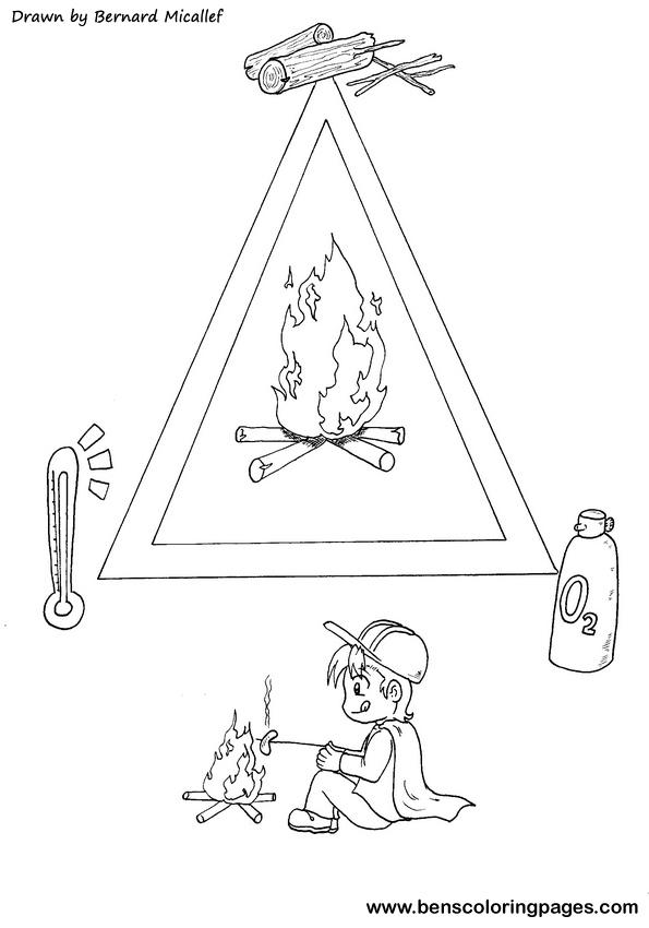 Fire Triangle coloring book