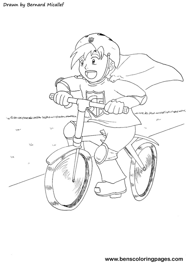 Bike Safety Coloring Pages Picture