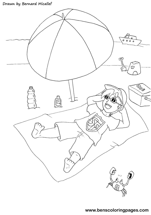 Free Coloring Pages Of Sun Safety Sun Safety Coloring Pages