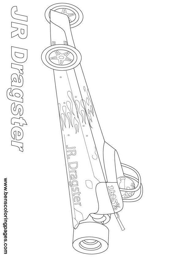 Drag Car Coloring Pages : Free drag racing coloring pages