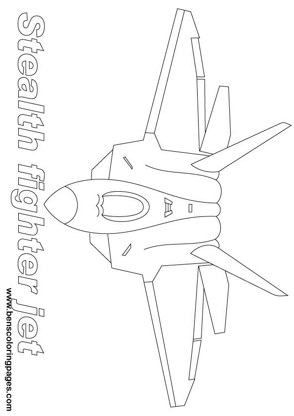 stealth bomber coloring pages - photo#10