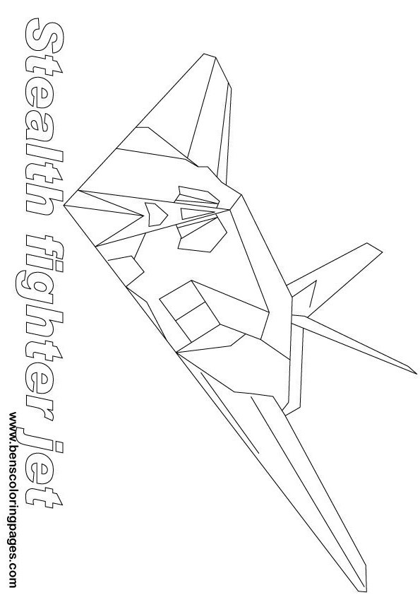 stealth bomber coloring pages - photo#4