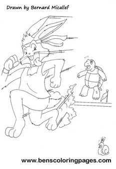 coloring pages turtle and hare - photo#29