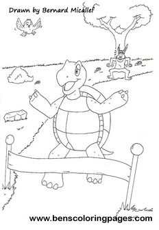 tortoise and the hare coloring page the tortoise and the hare fable