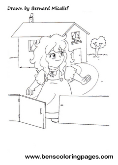 goldilocks coloring page - goldilocks and the three little bears story online
