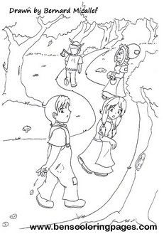 Hansel Gretel coloring book