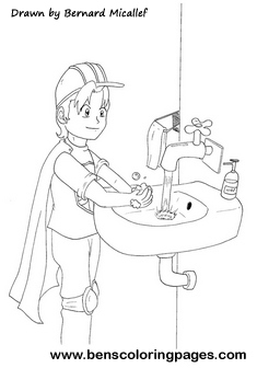 Personal Hygiene Promotion Coloring Page