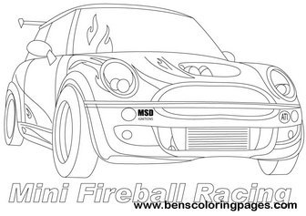 mini cooper panel coloring pages - photo#13